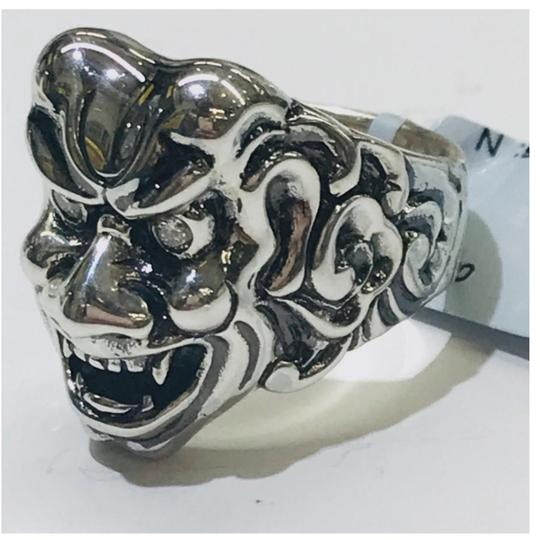 Stephen Webster NEVER WORN!! Stephen Webster Two Diamond Japanese Warrior Mask Ring Sterling Silver 23.8 grams Two Diamonds weighing 0.10 carat total weight Size 9 Can be sized!!! 100% Authentic Guaranteed!! Comes with Original Stephen Webster Pouch!! Image 4