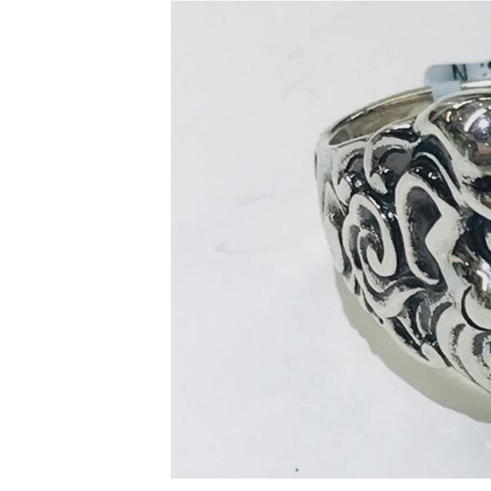 Stephen Webster NEVER WORN!! Stephen Webster Two Diamond Japanese Warrior Mask Ring Sterling Silver 23.8 grams Two Diamonds weighing 0.10 carat total weight Size 9 Can be sized!!! 100% Authentic Guaranteed!! Comes with Original Stephen Webster Pouch!! Image 6