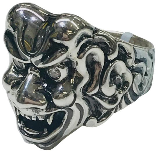 Stephen Webster NEVER WORN!! Stephen Webster Two Diamond Japanese Warrior Mask Ring Sterling Silver 23.8 grams Two Diamonds weighing 0.10 carat total weight Size 9 Can be sized!!! 100% Authentic Guaranteed!! Comes with Original Stephen Webster Pouch!! Image 0