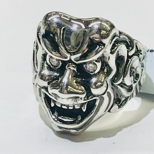 Stephen Webster NEVER WORN!! Stephen Webster Two Diamond Japanese Warrior Mask Ring Sterling Silver 23.8 grams Two Diamonds weighing 0.10 carat total weight Size 9 Can be sized!!! 100% Authentic Guaranteed!! Comes with Original Stephen Webster Pouch!! Image 8