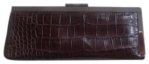 Calvin Klein Alligator Leather Never Used brown Clutch