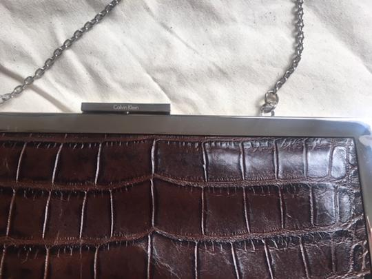 Calvin Klein Alligator Leather Never Used brown Clutch Image 1