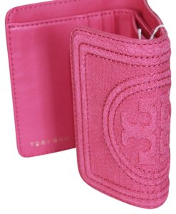 Tory Burch Tory Burch Hibiscus flower Fleming snake mini wallet