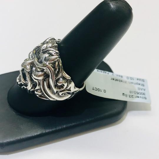 Stephen Webster NEVER WORN!! Stephen Webster Two Diamond Japanese Warrior Mask Ring Sterling Silver 23.8 grams Two Diamonds weighing 0.10 carat total weight Size 10 Can be sized!!! 100% Authentic Guaranteed!! Comes with Original Stephen Webster Pouch!! Image 2