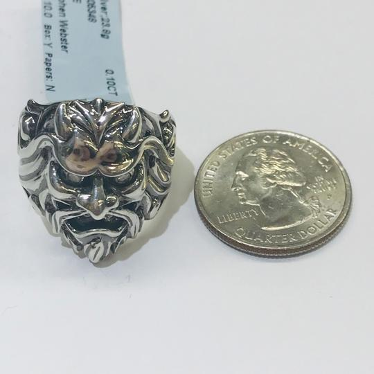Stephen Webster NEVER WORN!! Stephen Webster Two Diamond Japanese Warrior Mask Ring Sterling Silver 23.8 grams Two Diamonds weighing 0.10 carat total weight Size 10 Can be sized!!! 100% Authentic Guaranteed!! Comes with Original Stephen Webster Pouch!! Image 8