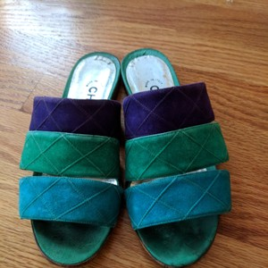 Chanel Teal purple and turquoise Sandals