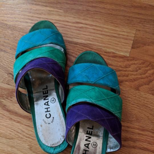 Chanel Teal purple and turquoise Sandals Image 1