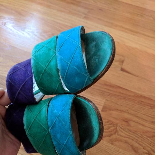 Chanel Teal purple and turquoise Sandals Image 2