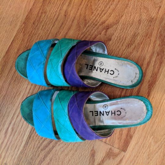 Chanel Teal purple and turquoise Sandals Image 3