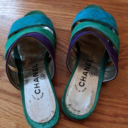 Chanel Teal purple and turquoise Sandals Image 5