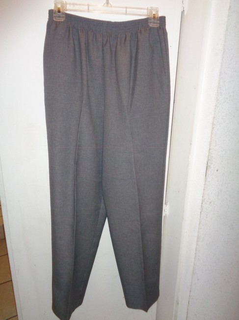 Alfred Dunner Trouser Pants Gray Image 1