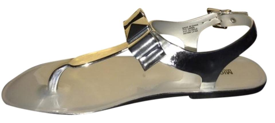 fa38be23f516 Michael Kors Silver Aliza Jelly Sandal Flop Sneaker W Box Caroline Jelly  Wedges