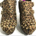 G by Guess Animal Print Buckled Studded Brown Black Pumps Image 5