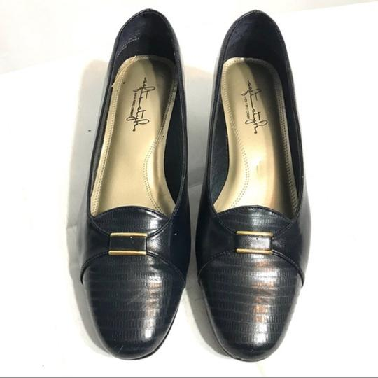 Hush Puppies Buckle Leather Black Pumps Image 2