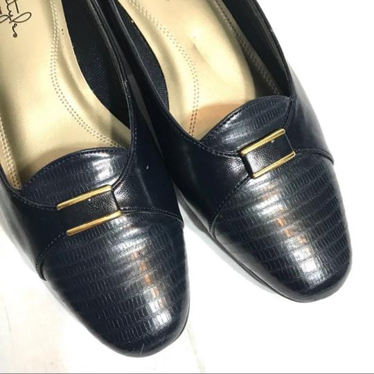 Hush Puppies Buckle Leather Black Pumps Image 5