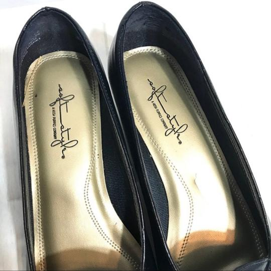 Hush Puppies Buckle Leather Black Pumps Image 6