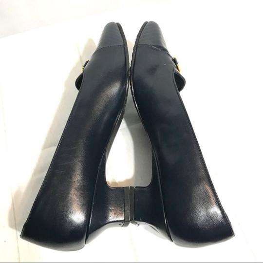Hush Puppies Buckle Leather Black Pumps Image 7