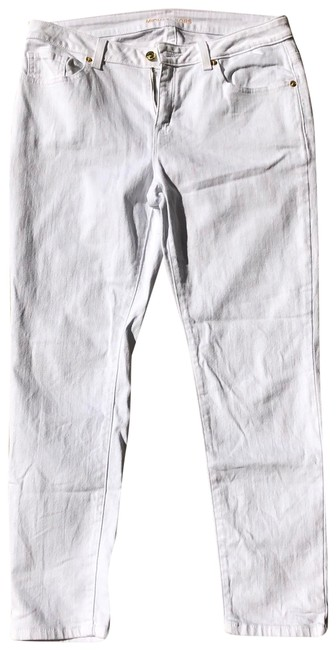 Item - White and Gold With Accents Skinny Jeans Size 6 (S, 28)