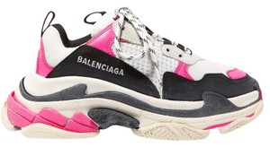 Balenciaga Speed Sneaker Sneakers High Top pink & white Athletic