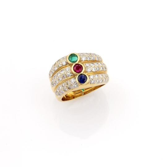 Preload https://img-static.tradesy.com/item/24212753/14135-diamond-and-multi-color-gems-18k-yellow-gold-3-row-stack-ring-0-0-540-540.jpg