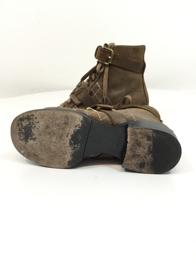 Chanel Suede Distressed Leather Brown Boots Image 1