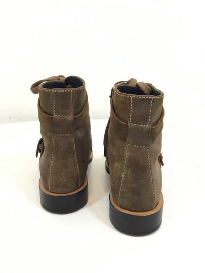 Chanel Suede Distressed Leather Brown Boots Image 2