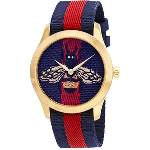 Gucci G-Timeless Embroidered Bee Ladies Watch