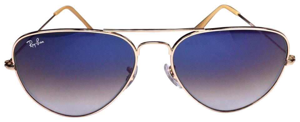 bb4f1a9fa2052 Ray-Ban Ray Ban Aviator Sunglasses Gold With Blue Gradient Lens Image 0 ...