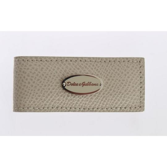Dolce&Gabbana Beige D31661 Leather Magnet Money Clip Groomsman Gift Image 3