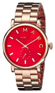Marc by Marc Jacobs Marc By Marc Jacobs Rose Gold Red Dial Baker mbm3344