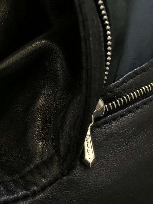 Gucci Leather Lambskin Vintage Silver Hardware Straight Pants Black Image 5