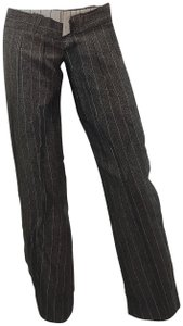 Jean-Paul Gaultier Pinstripe Striped Embroidered Vintage Artsy Trouser Pants Black
