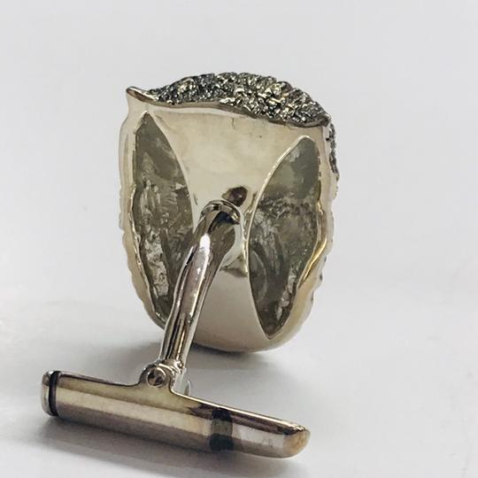 Stephen Webster NEVER WORN!!! Stephen Webster Silver Garnet Werewolf Cufflinks Sterling Silver 21.1 grams Four Garnet Stones weighing 0.31 carat total weight 100% Authentic Guaranteed!! Comes with Original Stephen Webster Pouch!! Image 4