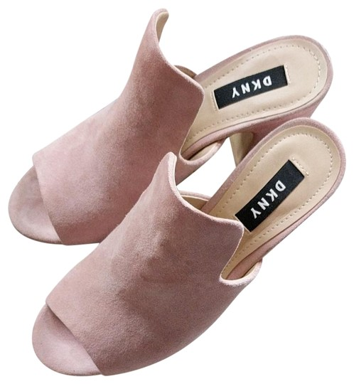 Preload https://img-static.tradesy.com/item/24213120/dkny-dust-pink-suede-mule-sandals-size-eu-36-approx-us-6-regular-m-b-0-2-540-540.jpg