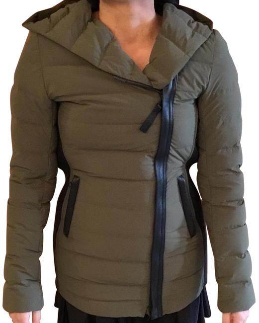 Preload https://img-static.tradesy.com/item/24213128/mackage-green-army-with-black-sides-down-light-xs-jacket-coat-size-2-xs-0-1-650-650.jpg