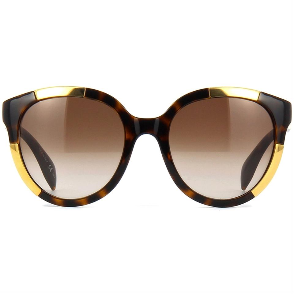 90e31f68bfb13 Alexander McQueen Round Style Women s Am0007sa 002 Brown Gradient Lens  Image 5. 123456