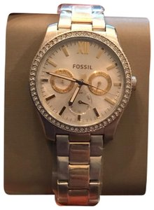 Fossil New Fossil ES4373 Scarlette Chronograph Glitz Gold Stainless Women Watch