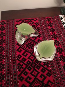 Anthropologie Glass Candle Holders Set Of 2 Decoration