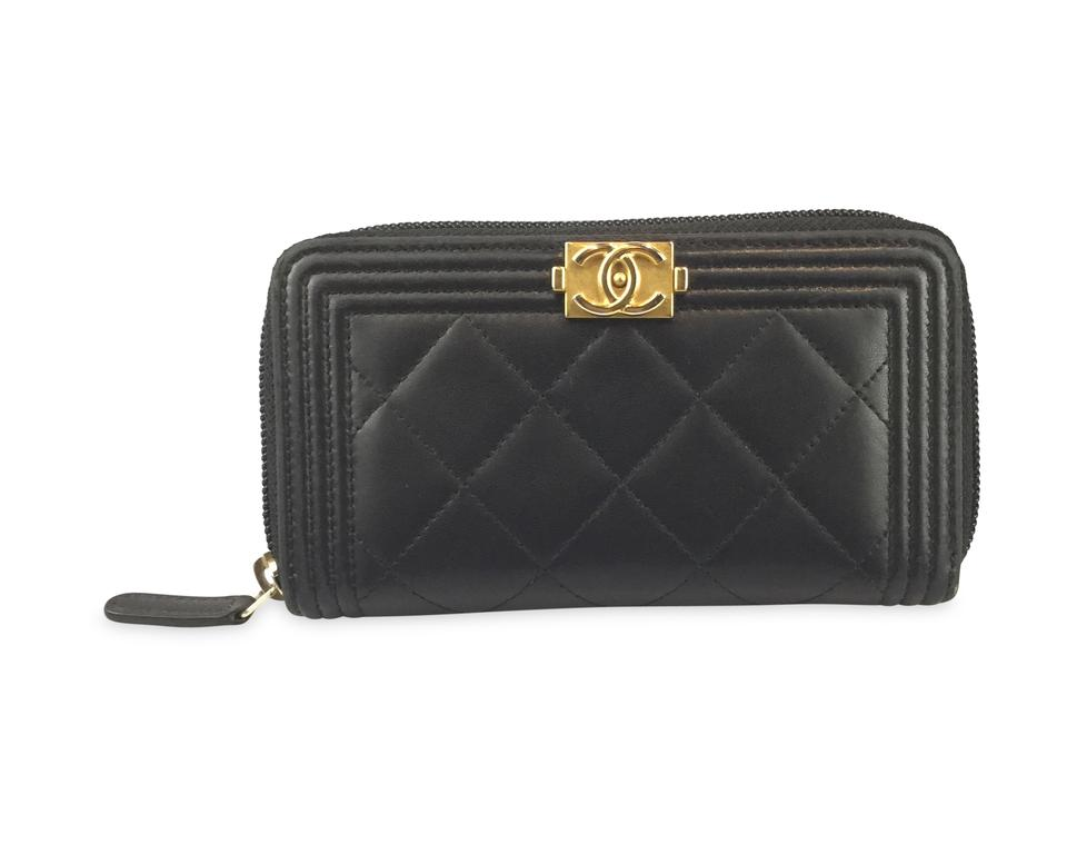 3038c79b0d7e Chanel Black Boy Zipped Wallet - Tradesy