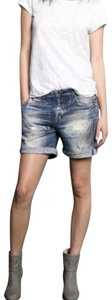 Rag & Bone Comfortable Sweat Digital Print Cuffed Shorts blue