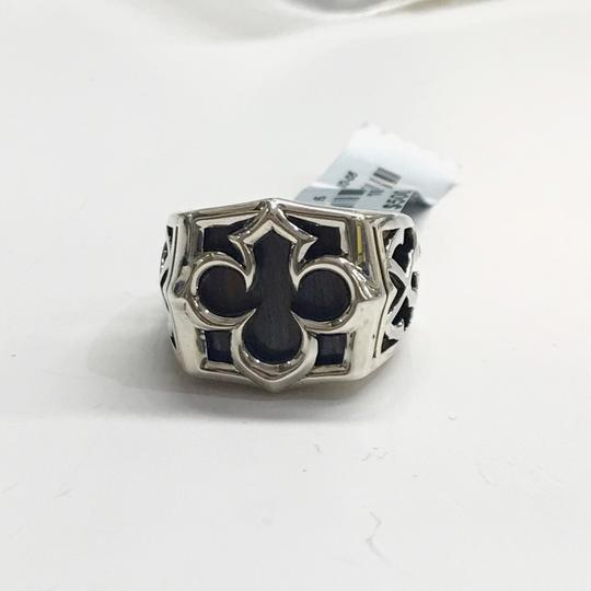 Stephen Webster NEVER WORN!! Stephen Webster Silver Tiger Iron Stone Aces Carved Signet Men's Ring Sterling Silver Tiger Iron Stone 29 grams Size 10.75 100% Authentic Guaranteed!! Comes with Original Stephen Webster Pouch! Image 3