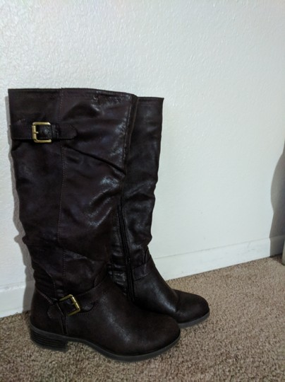 White Mountain Dark Brown Boots Image 1