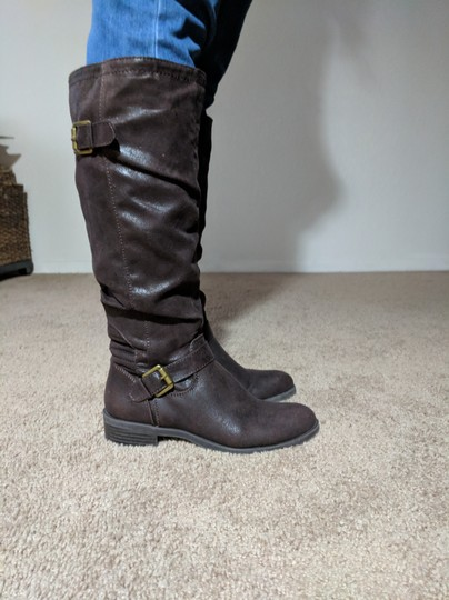 White Mountain Dark Brown Boots Image 3