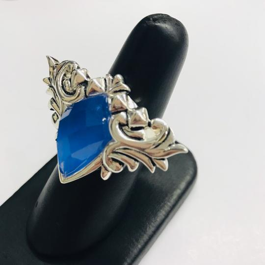 Stephen Webster NEVER WORN!!! Stephen Webster Superstud Baroque Silver Blue Agate and Clear Quartz Crystal Haze Spike Ring Sterling Silver Blue Agate and Clear Crystal weighing 10.42 carats total weight 24.8 grams Size 7 100% Authentic Guaranteed!! Comes with Original Stephen Webster Pouch!!! Image 1