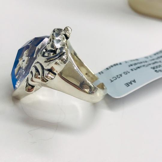 Stephen Webster NEVER WORN!!! Stephen Webster Superstud Baroque Silver Blue Agate and Clear Quartz Crystal Haze Spike Ring Sterling Silver Blue Agate and Clear Crystal weighing 10.42 carats total weight 24.8 grams Size 7 100% Authentic Guaranteed!! Comes with Original Stephen Webster Pouch!!! Image 5