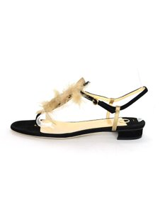 O Jour Suede Feather Black / Tan Sandals