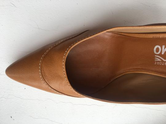 Salvatore Ferragamo Size 8.5 And Used Once Calfskin fawn Sandals Image 3