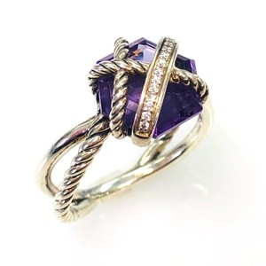 David Yurman David Yurman Cable Wrap Ring with Amethyst and Diamonds size 7