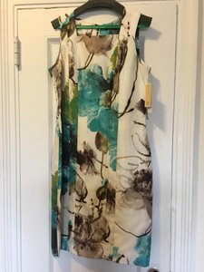 Per Se Never Worn Hand Painted Fabric Elegant Dress
