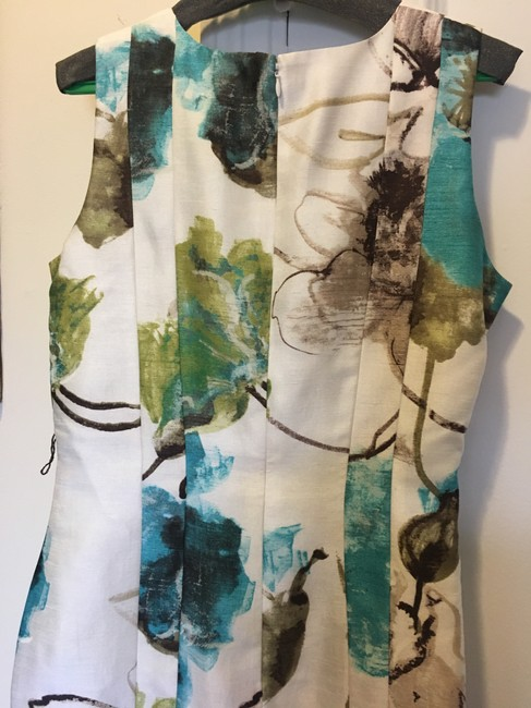 Per Se Never Worn Hand Painted Fabric Elegant Dress Image 1